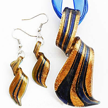 Blue Lampwork Earrings & Necklaces
