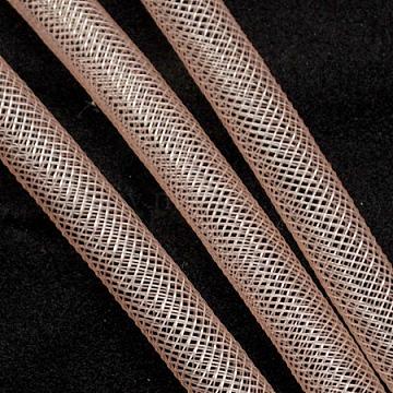 Plastic Net Thread Cord, Light Salmon, 8mm, 30Yards(PNT-Q003-8mm-06)