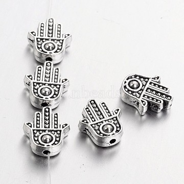12mm Palm Alloy Beads