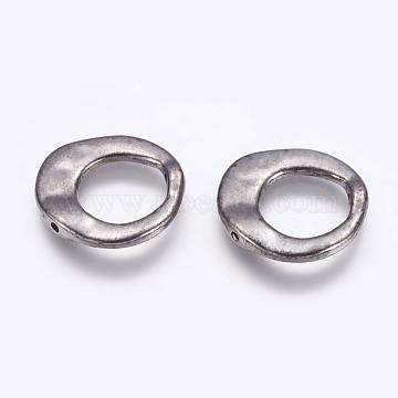 Tibetan Style Irregular Ring Bead Frames, Lead Free & Cadmium Free & Nickel Free, Gunmetal, 20.5x20.5x3mm, Hole: 12mm(X-K081Z052)