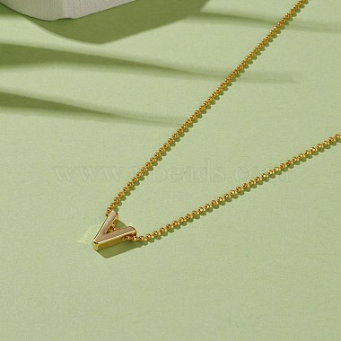 Golden Plated Brass Initial Pendant Necklaces(NJEW-JN03299-03)-4