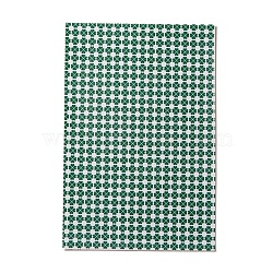 PU Leather Fabric, Garment Accessories, for DIY Crafts, Clover Pattern, Green, 30x20x0.1cm(DIY-L029-D03)