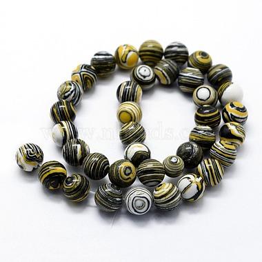 Synthetic Malachite Beads Strands(X-G-I199-32-8mm-B)-2
