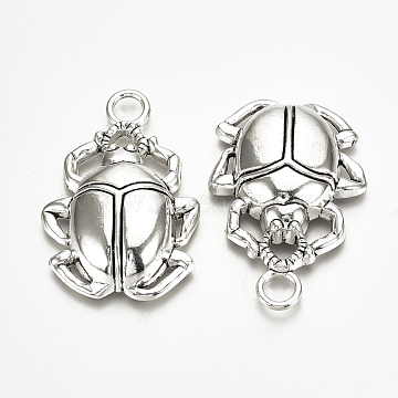 Antique Silver Insects Alloy Pendants