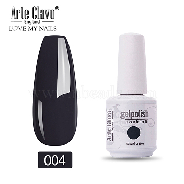 15ml Special Nail Polish, For Nail Art Stamping Print, Varnish Manicure Starter Kit, Black, Bottle: 34x80mm(MRMJ-P006-C003)