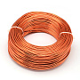 Aluminum Wire, Flexible Craft Wire, for Beading Jewelry Doll Craft Making, OrangeRed, 22 Gauge, 0.6mm; 280m/250g(918.6feet/250g)