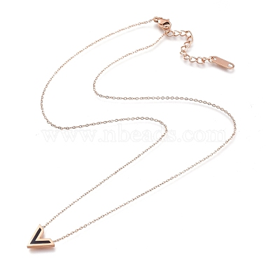 304 Stainless Steel Initial Pendant Necklaces(NJEW-I240-10)-2
