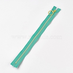 аксессуары для одежды, нейлон и смола закрытой молнией, застежка-молния, mediumseagreen, 33.3~33.5x2.8x0.2 cm(FIND-WH0028-04-A02)
