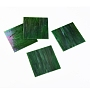 Variety Stained Glass Sheets, Large Cathedral Glass Mosaic Tiles, for Crafts, Dark Green, 105~110x105~110x2.5mm
