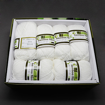 1mm White Bambaoo Fiber+Silk Thread & Cord