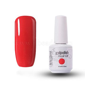 15ml Special Nail Gel, for Nail Art Stamping Print, Varnish Manicure Starter Kit, Orange Red, Bottle: 34x80mm(MRMJ-P006-D005)