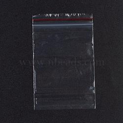 sacs en plastique à fermeture éclair, sacs d'emballage refermables, joint haut, rectangle, rouge, 9.2x5.9 cm; épaisseur unilatérale: 0.028 mm; mesure intérieure: 5.8x7.9 cm, 100 PCs / sac(OPP-G001-E-6x9cm)