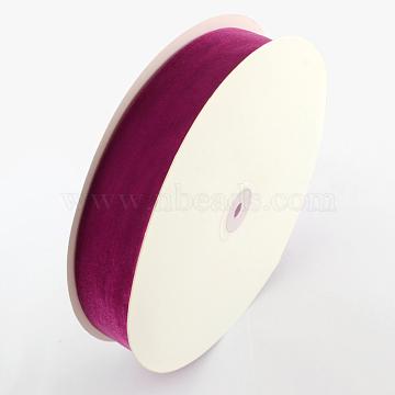 3/4 inch Single Face Velvet Ribbon, MediumVioletRed, 3/4 inch(19.1mm); about 25yards/roll(22.86m/roll)(OCOR-R019-19.1mm-040)