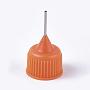 Plastic Replace Head, with Iron Pin, Platinum, Orange, 30x17mm, Hole: 0.8mm