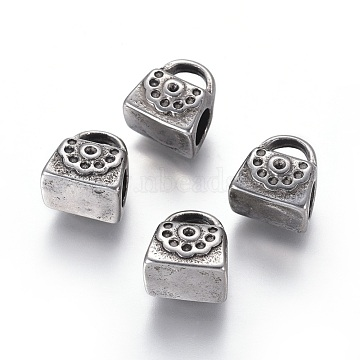 Antique Silver Bag Stainless Steel Beads