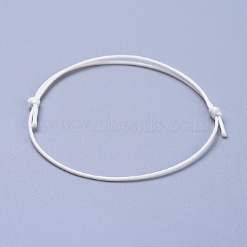 White Waxed Polyester Cord Bracelet Making