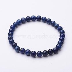 Lapis rondes naturelles bracelets stretch lazuli, 56mm(BJEW-O117-04)