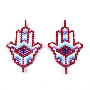 Handmade Seed Beads Links Connectors(SEED-I012-09)-1