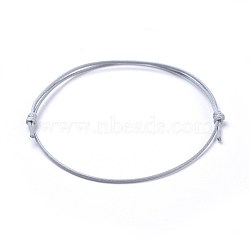 "Fabrication de bracelet en corde polyester polyester ciré coréen, grises , 10-5/8""~11"" (27~28cm); 1mm(BJEW-JB04256-05)"