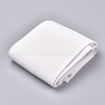 (Defective Closeout Sale), Flat Elastic Rubber Band, Webbing Garment Sewing Accessories, White, 10cm(EC-XCP0001-07)
