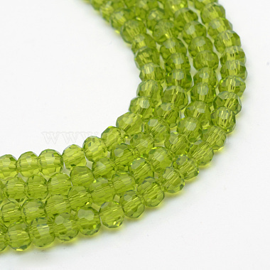 6mm Olive Round Glass Beads