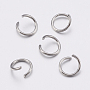 304 Stainless Steel Open Jump Rings, Stainless Steel Color, 4.6mm; about 400pcs/20g