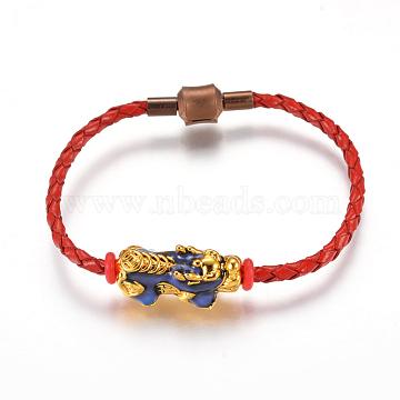 Red Imitation Leather Bracelets
