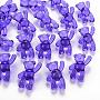 Transparent Acrylic Beads, Bear, Medium Purple, 37x28x13mm, Hole: 2.5mm, about 133pcs/500g