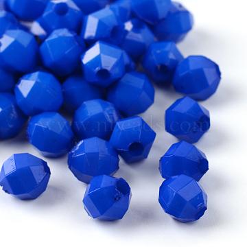 6mm RoyalBlue Oval Acrylic Beads