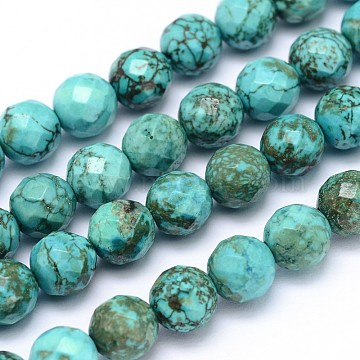 8mm MediumTurquoise Round Natural Turquoise Beads