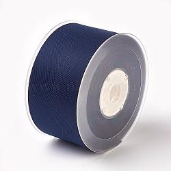 Rayon and Cotton Ribbon, Twill Tape Ribbon, Herringbone Ribbon, Prussian Blue, 2 inches(50mm); about 50yards/roll(45.72m/roll)(SRIB-F007-330-50mm)