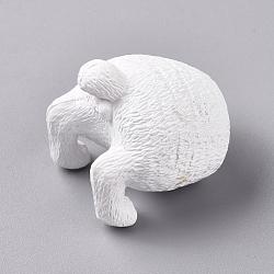 pvc cat butt réfrigérateur aimants drôle réfrigérateur photo aimants, décoration de bureau de bureau à domicile, animal amoureux des animaux de compagnie cadeaux, blanc, 30.5x32.5x33 mm(AJEW-D044-01C)