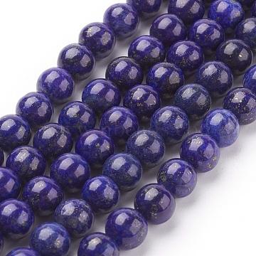 8mm Blue Round Lapis Lazuli Beads