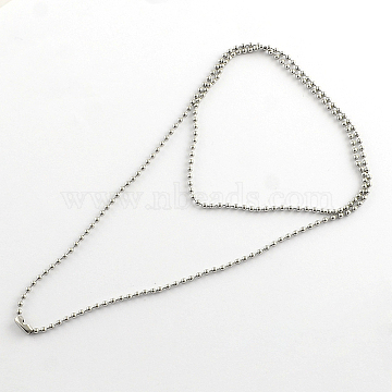 304 Stainless Steel Ball Chain Necklace Making, Stainless Steel Color, 27.5 inches(69.9cm)x2.4mm(X-NJEW-R225-06)