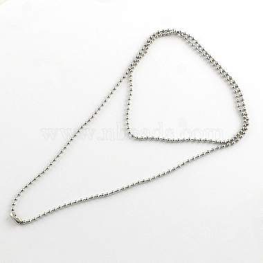 304 Stainless Steel Ball Chain Necklace Making(X-NJEW-R225-06)-1