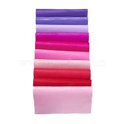 Feutre à l'aiguille de broderie de tissu non tissé pour l'artisanat de bricolage, carrée, couleur rouge progressive, 298~300x298~300x1 mm; 10 pcs / set(DIY-JP0002-06)