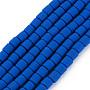 Blue Column Polymer Clay Beads(CLAY-ZX006-01D)