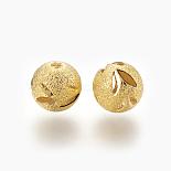 Golden Round Brass Beads(KK-F762-10G-12mm)