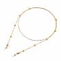 Golden Brass Eyeglass Chains(X-AJEW-EH00104-01)