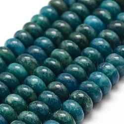 """Chapelets de perles en apatite naturelle, rondelle, 10x6mm, trou: 1mm; environ 68 pcs/chapelet, 15.7"""" (40 cm)(G-F478-04-10x6mm)"""