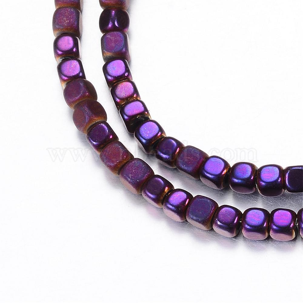 Non Magnetic 6mm 25 Cube Shape Hematite Beads