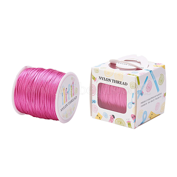 Nylon Thread, Rattail Satin Cord, Camellia, 1.0mm, about 76.55 yards(70m)/roll(NWIR-JP0010-1.0mm-105)