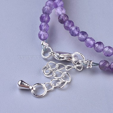 Natural Amethyst Beaded Necklaces(NJEW-K114-A-A21)-3