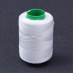 Fils à coudre en polyester pour tissus ou bricolage, blanc, 0.1mm; 400 m / rouleau (437.44 heures / rouleau); 10rolls / bag(NWIR-WH0001-30)