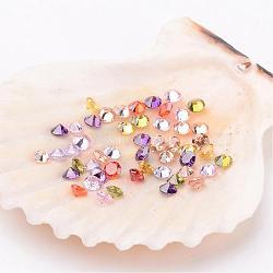 50 pièces mélangées classent des cabochons en forme de diamant en zircone, facettes, 2.5x1.7 mm(X-ZIRC-M002-2.5mm)