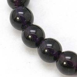 """6 verre ronde séparateurs perles des brins de mm, environ 6 mm de diamètre, Trou: 1mm, Environ 50 pcs/chapelet, 13""""(X-GR6mm07Y)"""