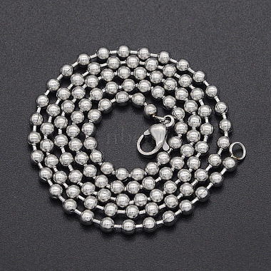 Unisex 304 Stainless Steel Ball Chain Necklaces(NJEW-T012-05-51-S)-2