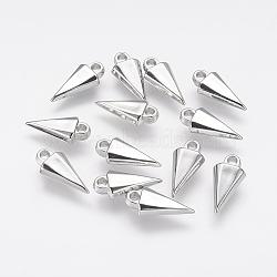 Пластмассовые подвески ccb, треугольные, платина, 19x9x4 мм, отверстие : 2 мм(CCB-J035-083P)