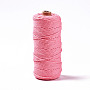 Cotton String Threads, Macrame Cord, Decorative String Threads, for DIY Crafts, Gift Wrapping and Jewelry Making, Pale Violet Red, 3mm, about 109.36 yards(100m)/roll