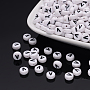 7mm Blanc Rond Plat Acrylique Perles(Y-PL37C9070-V)